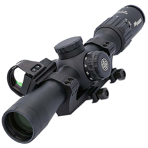 Sig SIERRA3BDX 2.5-8 RIFLESCOPE with ALPHA 2 BASE and 45° ROMEO1 PRO