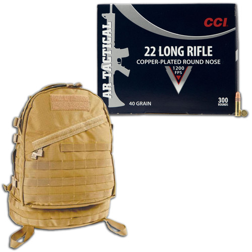 CCI 22LR 300 Rnds with Blackhawk Ultralight 3 Day Assault Pack Combo