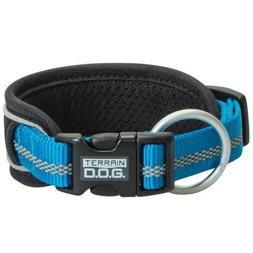 """Terrain Dog 1"""" Large Pad Reflect Collar - Blue"""