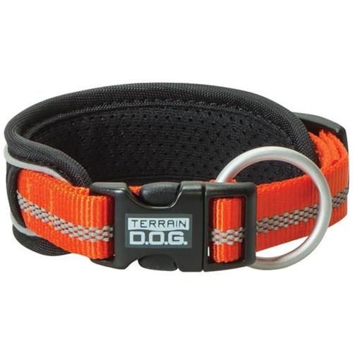 "Terrain Dog 1"" Large Pad Reflect Collar - Orange"