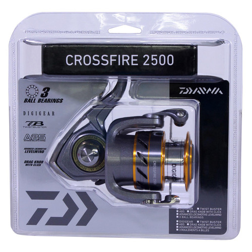 Daiwa Crossfire 2500 Spinning Reel-FW/SW ML/L 5.3:1