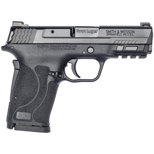 "Smith & Wesson M&P Shield EZ M2.0 Compact 9mm, 3.675"" Barrel, Black, No Manual Safety, 8rd"