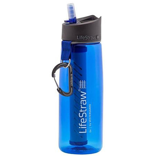 Lifestraw Go 22Oz Water Filter Bottle, Blue