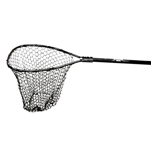 "Ranger Nets Hook Free Series Net 54-84"" Telescoping Handle 20"" x 20"" Pear-D Hoop Rubber Black"