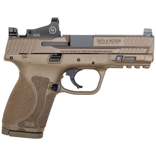 Smith & Wesson M&P9 M2.0 Compact 9mm FDE Pistol with Crimson Trace Red Dot Reflex Sight