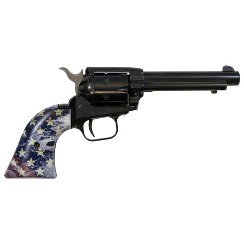 Heritage Rough Rider 22LR Rimfire Revolver with 4.5 inch Barrel and American Flag Grips