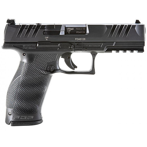 """WALTHER PDP 4.5"""" FULL SIZE OPTIC READY 9MM PISTOL BLACK - 2842475"""
