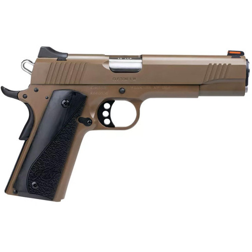 "Kimber Custom LW Pistol 3700613 45 ACP 5"" Gray Laminate Grips FDE Finish 8 Rd"