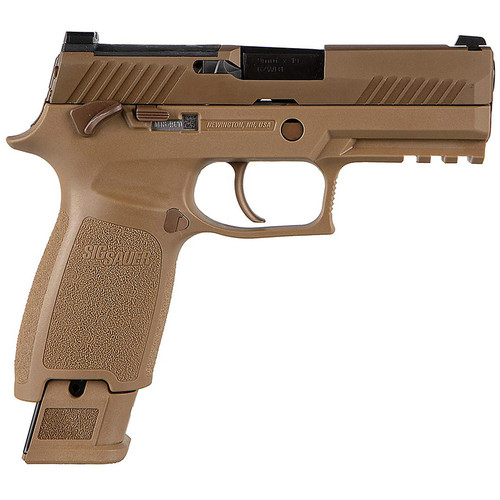 Sig Sauer P320 M18 Commemorative Edition 9mm Carry Size Flat Dark Earth (FDE) Striker-Fired Pistol