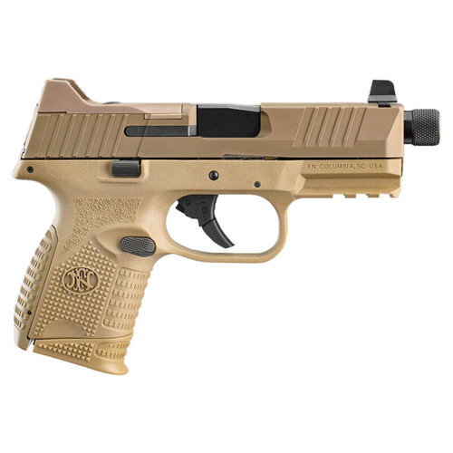 "FN-509 Compact Tactical 9mm SA Pistol 4.32"" TB 24 Rds Polymer Frame FDE"