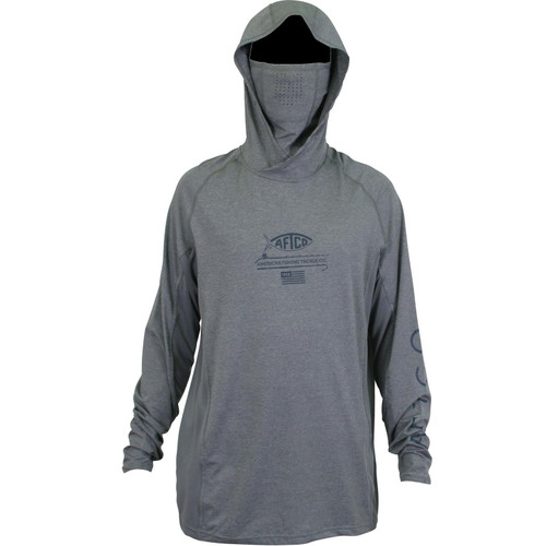 Aftco Barracuda Geo Cool Hooded Fishing Shirt with Mask