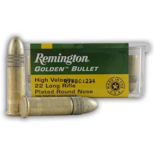 Remington .22 LR Golden Bullet 40GR RN 100 Rounds
