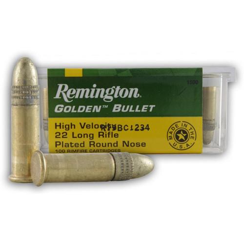 Remington .22 LR Golden Bullet 40GR RN 100 Rounds