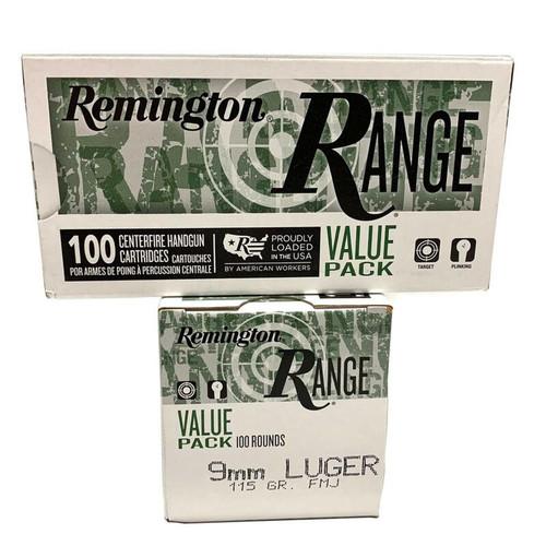 Remington RANGE 9mm 115GR FMJ 100 Rounds