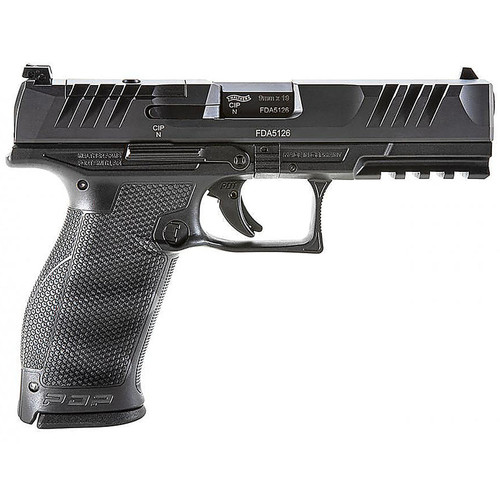 """Walther WAL PDP FS 9MM 5"""" 18RD OPTIC RDY BLK"""