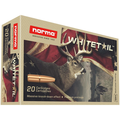 Norma Whitetail 7mm-08 Remington Brass Cased 150GR 20 Rounds