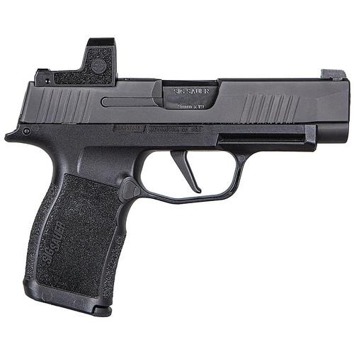 "SIG Sauer P365 XL 9mm Semi Auto Pistol 3.7"" Barrel 12 Rounds Tritium Night Sights with Romeo Zero 3 MOA Red Dot Polymer Frame Black"