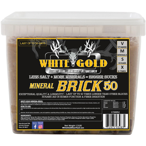 White Gold Mineral Brick 50 - 12Lbs