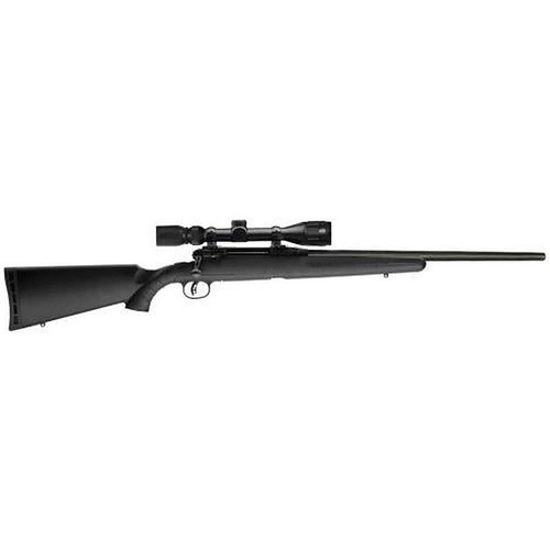 """Savage Axis II XP 22-250 22"""" Barrel 4 Round Matte Black Finish with Bushnell 4-12x40mm Scope"""