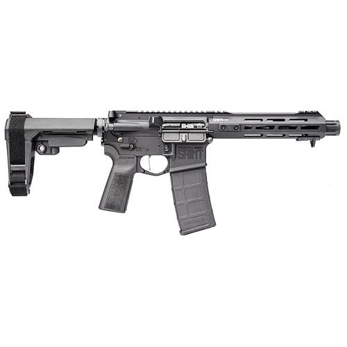 "Springfield Saint Victor AR-15 Pistol 223/556 7.5"" Barrel Blast Diverter Free-float Handguard M-Lok and Handstop SBA3 Brace 30Rd Mag"