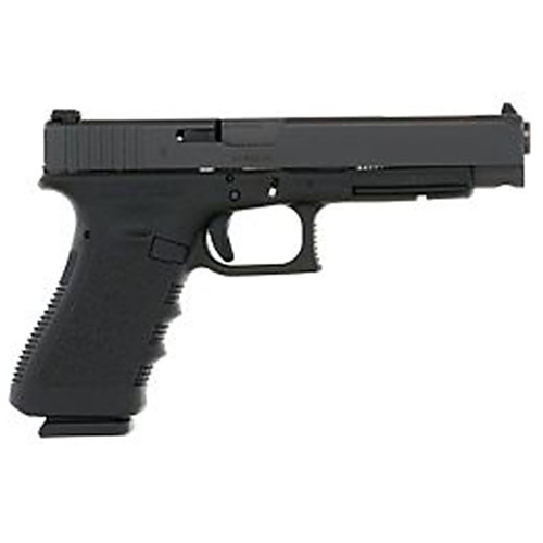 "Glock 34 Longslide 9MM 5.32"" Black 17Rd 2 Mags Glock OEM Rail Prac/Tac Right Hand Adjustable Sights Polymer Matte"
