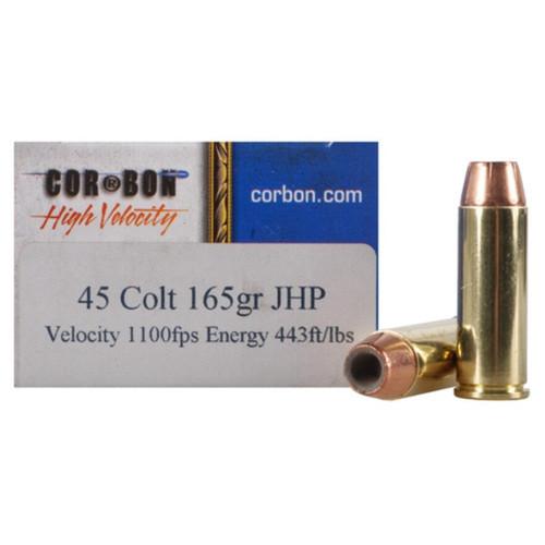 Cor-Bon Self-Defense Ammunition 45 Colt LC 165Gr Jacketed Hollow Point 20 Rounds