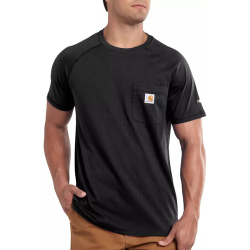 Carhartt Men's Force Cotton Delmont Short Sleeve T-Shirts 100410