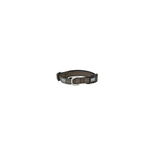 "Terrain D.O.G. Canvas Snap-N-Go Adjustable Dog Collar - Large 17"" - 25"", Olive"
