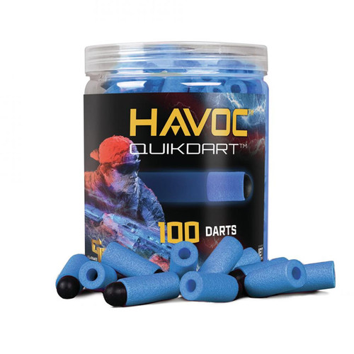 GameFace Havoc Quik Darts (Blue) 100 Count Soft Tip Dart