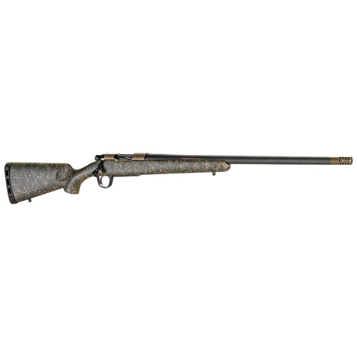 Christensen Arms Ridgeline 6.5 PRC Bolt-Action Rifle with Bronze Receiver and Green/Black/Tan Stock