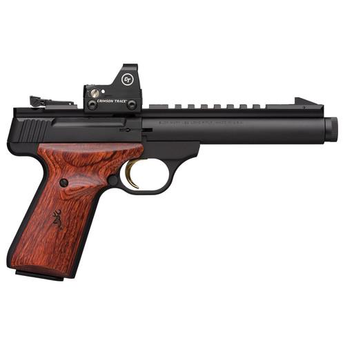 Browning Buck Mark Field/Target 22LR Suppressor Ready Rimfire Pistol with Crimson Trace Red Dot Sight