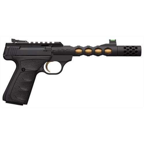 Browning Buck Mark Plus Vision 22LR Black/Gold Suppressor Ready Rimfire Pistol