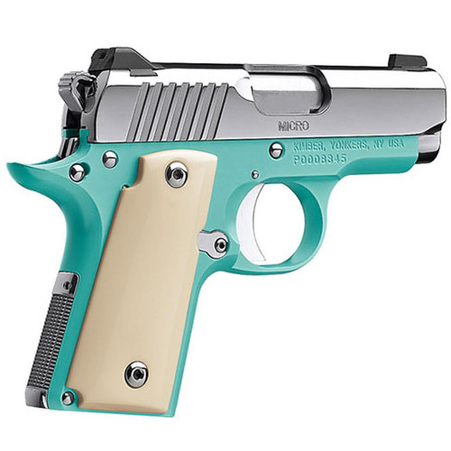 """Kimber Micro 9 Bel Air Pistol 3700647, 9MM, 3.15"""", Ivory Grips, Polished Slide, Night Sights, 6 Rd"""
