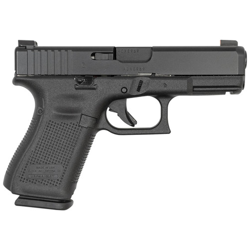 Glock 19M 9mm 15-Round Pistol with Ameriglo Bold Sights and Extended Slide Lock (Made in USA)