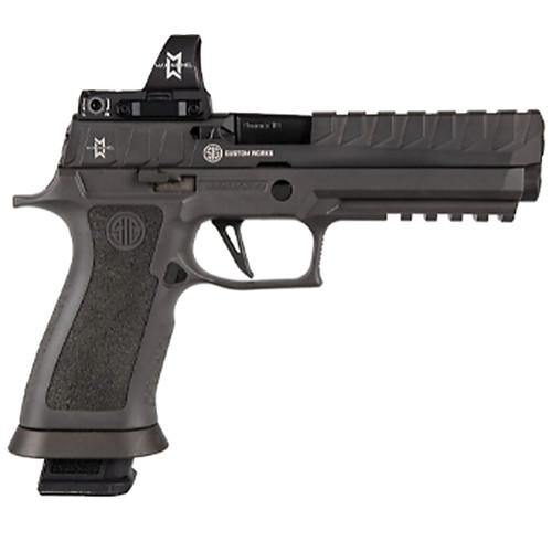 "Sig Sauer, P320 X5, Semi-automatic, Striker Fired, Full Size, 9mm, 5"" Barrel, Polymer Frame, Black Color, Ambidextrous Controls, Fiber Optic Sights, Sig Romeo 3 Max Red Dot Sight, 21Rd, 4 Magazines"