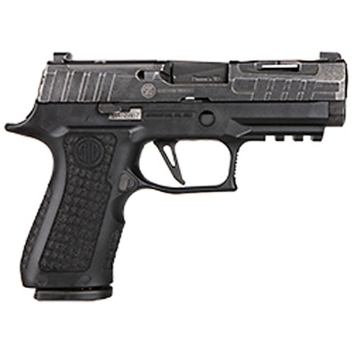 Sig Sauer P320 X-Compact Spectre 9mm Flat Trigger Distressed Finish 2-15Rd Mags, P320V001
