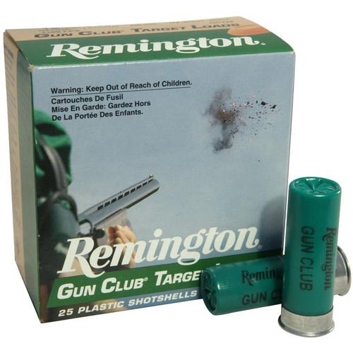 "Remington Gun Club Target Ammunition 12 Gauge 2-3/4"" 1-1/8 oz #8 Shot 25 Rounds"