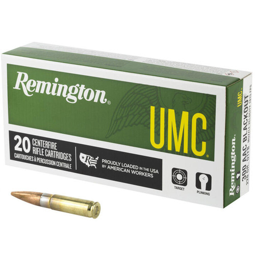 Remington UMC Ammunition 300 AAC Blackout Open Tip Flat Base 20 Rounds
