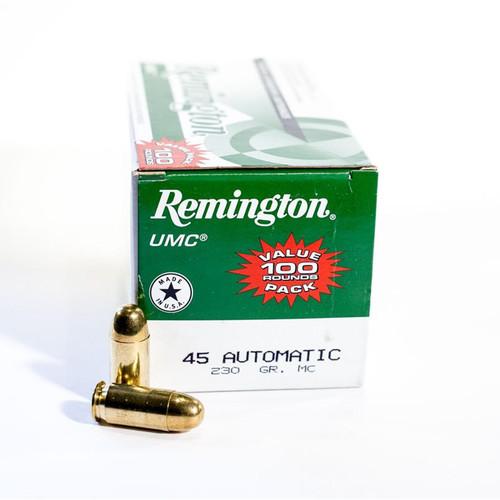 Remington UMC Value Pack .45 ACP Ammunition 230 Grain FMJ 100 Rounds