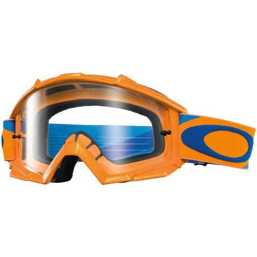 Oakley Proven MX Goggles OO7027-2600 Heritage Race Orange/Blue Frame Clear Lens