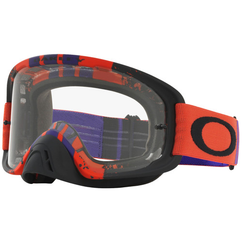 Oakley O2 MX Goggles OO7068-1600 Pinned Race Red/Purple Frame Clear Lens