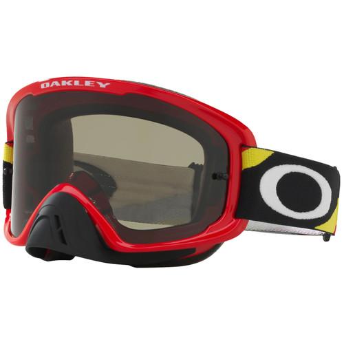 Oakley O2 MX Goggles OO7068-2400 Heritage Racer Red Frame Dark Grey Lens