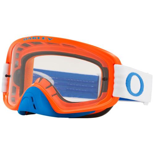 Oakley O Frame 2.0 MX Goggles OO7068-3600 Blue/Orange Frame Dark Grey Lens