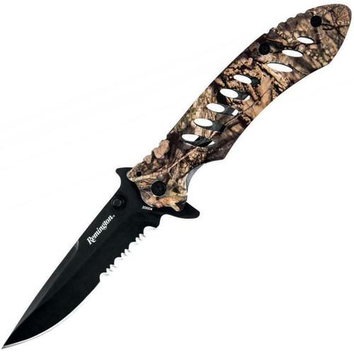 """Remington FAST Series 3.2"""" Drop Point Folding Knife - Mossy Oak Break-Up Country"""
