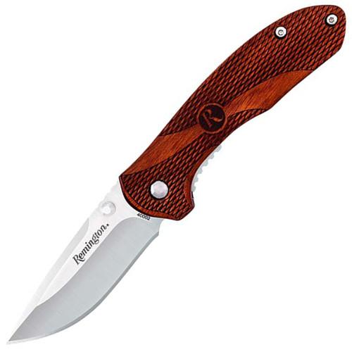 Remington Heritage Liner Lock Medium Wood Handle Folding Knife
