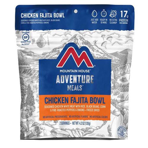 Mountain House Chicken Fajita Bowl Gluten Free Freeze Dried Food 2 Serving