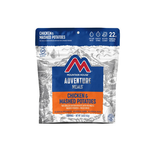 Mountain House Chicken & Mashed Potato Dinner Gluten Free Freeze Dried Food 2 Serving