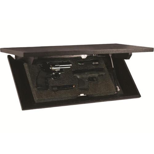 "Covert Cabinets 24"" x 11"" x 3"" Concealment Shelf Black"
