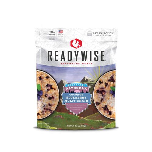 ReadyWise Daybreak Coconut Blueberry Multi-grain Freeze Dried Food 2.5 Servings