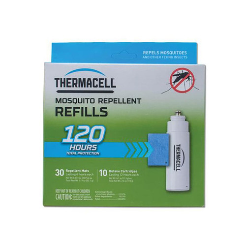 Thermacell Mosquito Repellent Mega Refill Pack (Butane .42 oz Pack of 10 and Repellent Mats Package of 30)